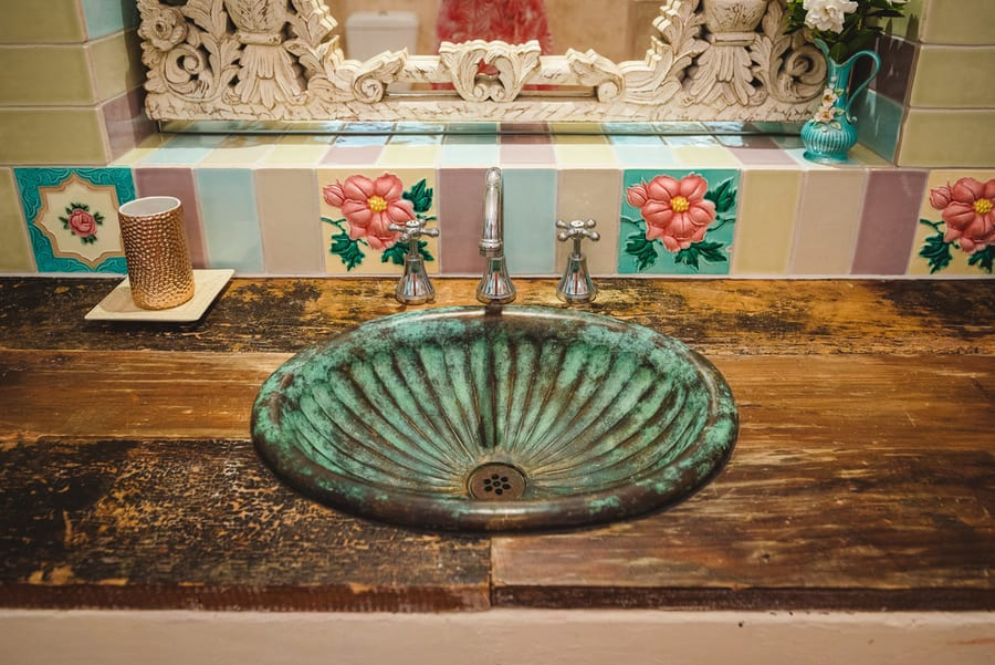 bronze wash basin