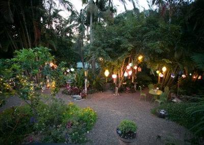 Garden ceremony lighting